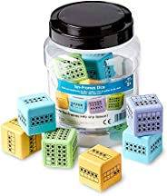 hand2mind Math Activity Dice Set, Foam Ten-Frame Math Dice For Kids Ages 4-8, Ten-Frame On All Side, Kids Dice