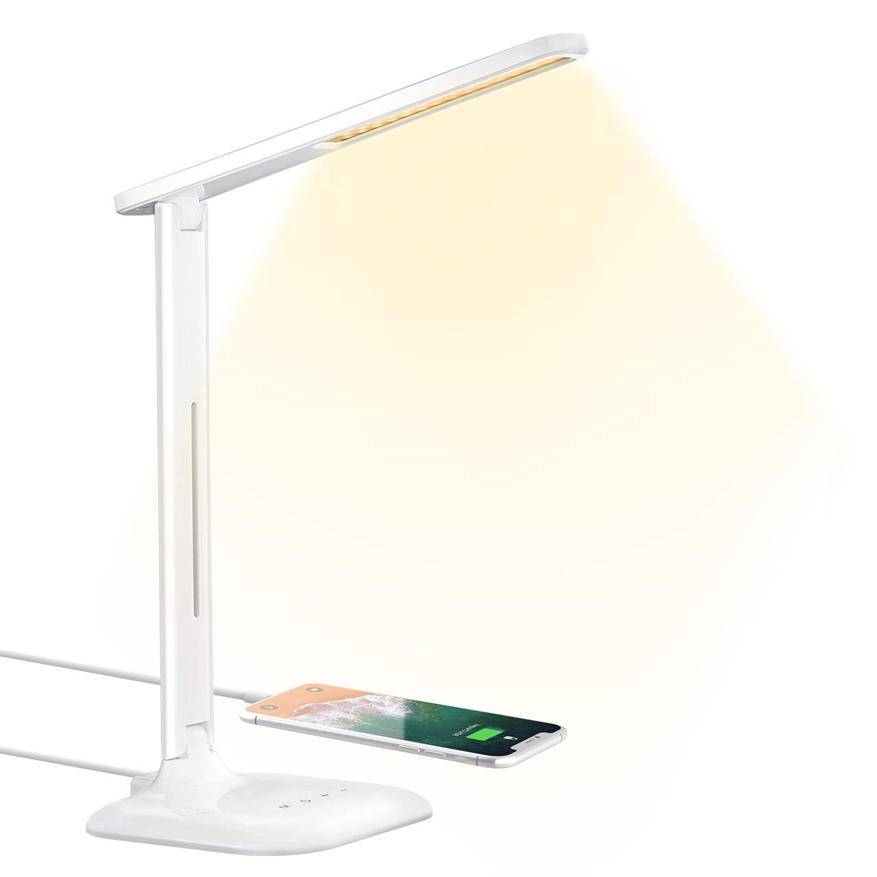 HOMTECH LED Desk Lamp for Space Saving - Best LED Desk Lamp For Study