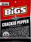 BIGS Sea Salt & Black Pepper Sunflowers Seeds, 5.35-Ounce Bag(Pack of 12)