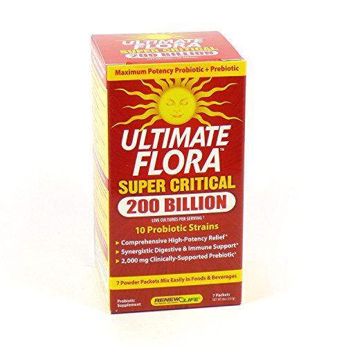 2 Pack Ultimate Flora Super Critical 200 Billion By Renew Life - 2 X 7 Packets