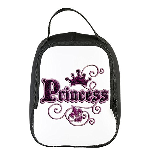 Neoprene Lunch Bag Fleur De Lis Princess