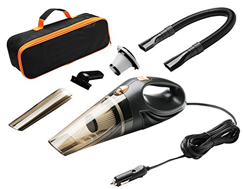 Onshowy Car Vacuum Cleaner, 12 Volt 45 W Portable Handheld Auto Vacuum Cleaner Auto Lightweight Cleaner Dustbuster Hand Vac