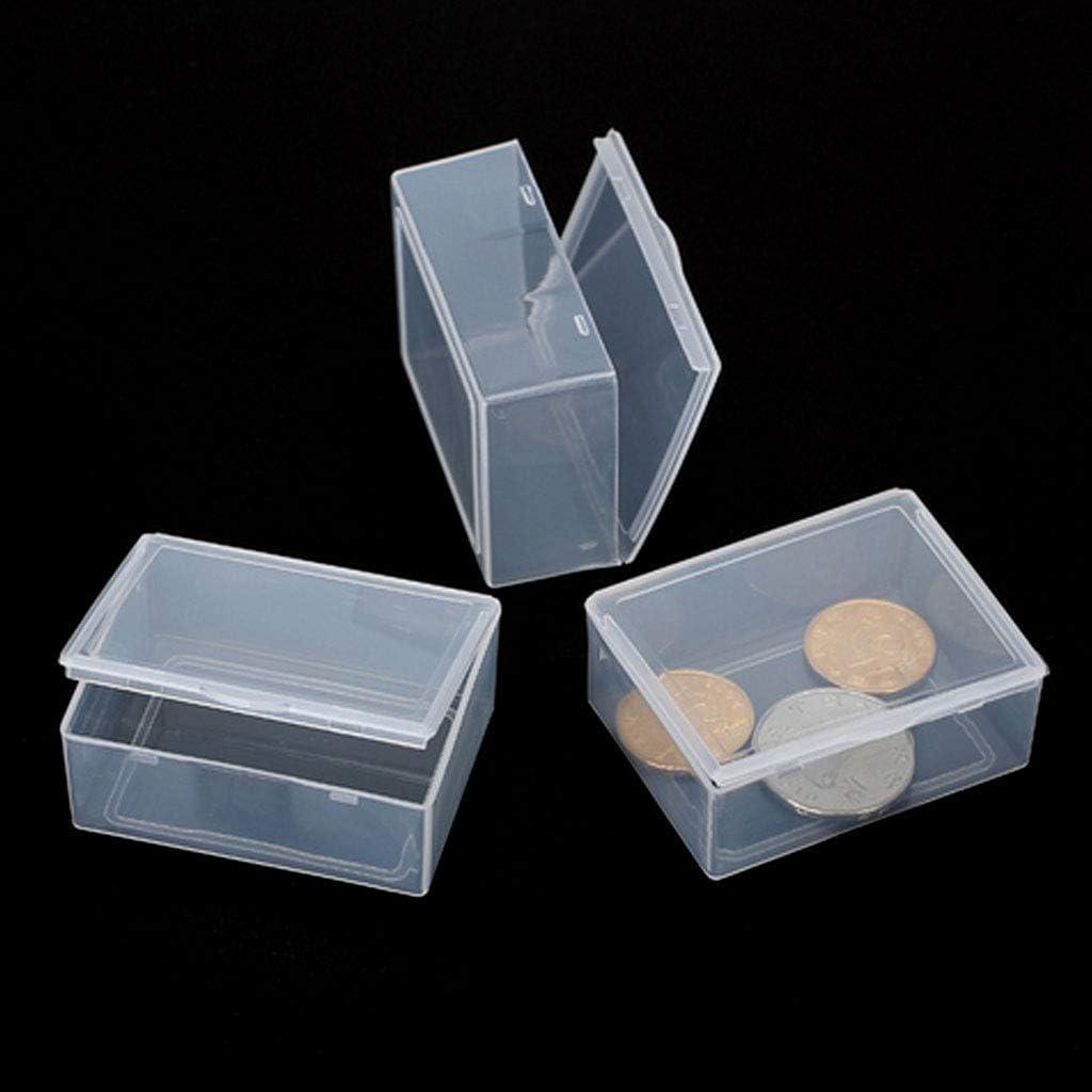 Collection de conteneurs bo/îte de Rangement pour Bijoux Organisateur SimpleLife Bo/îte de Rangement en Plastique Transparent
