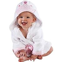 Bebé con Capucha Baño Toallas, Blanco Peluche Toalla