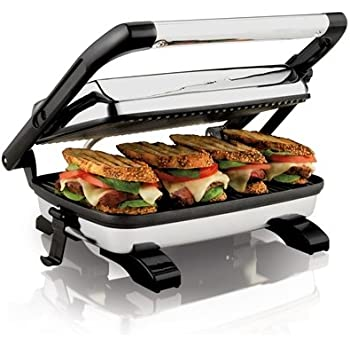 Amazon Com Hamilton Beach 25450 Gourmet Panini Press Toaster Ovens