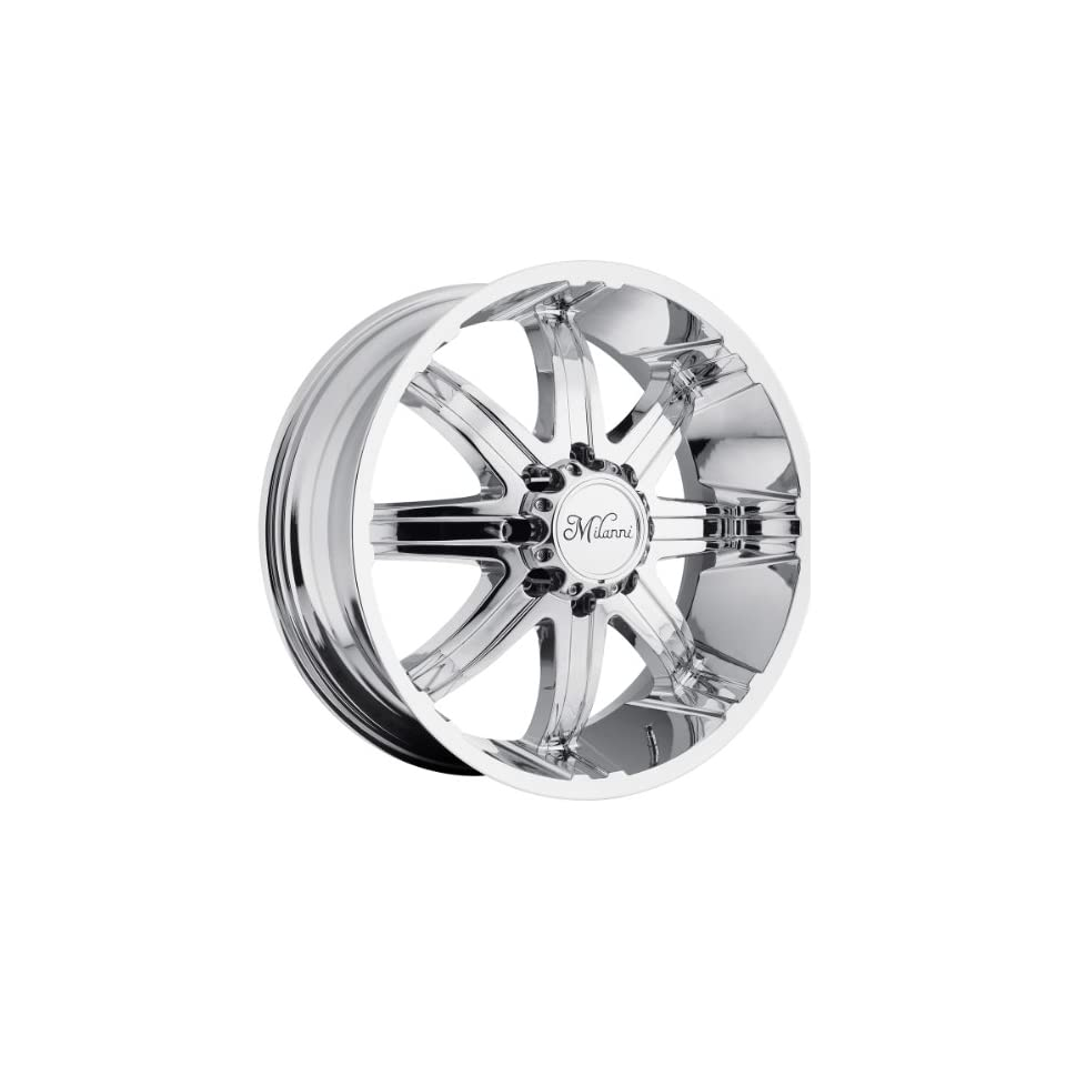 Milanni Kool Whip 8 20 Chrome Wheel / Rim 8x170 with a 18mm Offset and a 130.8 Hub Bore. Partnumber 446 2970C18