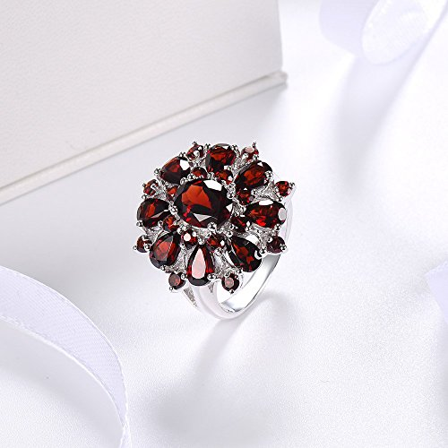 XBKPLO Rings for Women Pomegranate Ruby Diamond Wedding Accessories Jewelry Gift Size 6-10 (10) by XBKPLO (Image #3)