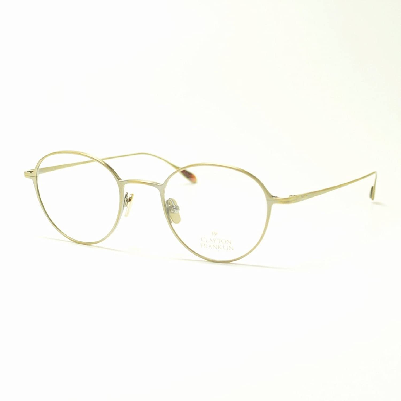 CLAYTON FRANKLIN クレイトンフランクリン 627 AGP アンティークゴールド メガネ 眼鏡 めがね メンズ レディース おしゃれ ブランド 人気 フレーム 流行り レンズ B07DN6H85T