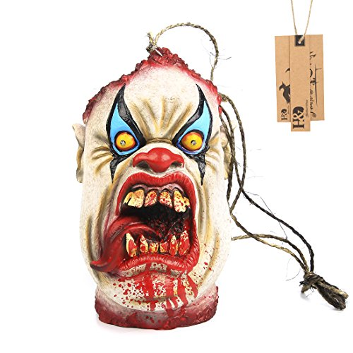 Hyaline&Dora Bloody Devil Haunted House Decoration Prop with Eyes Lighted Up for Halloween Party ()