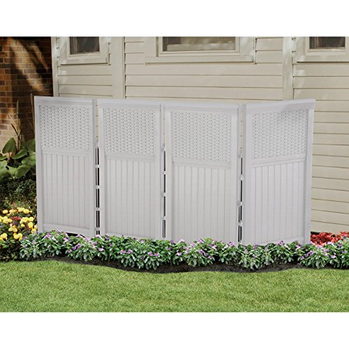 Wicker Outdoor Screen Enclosure White product image