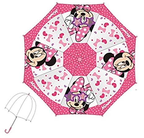 Minnie – Paraguas Transparente Campana 48 Cm Minnie