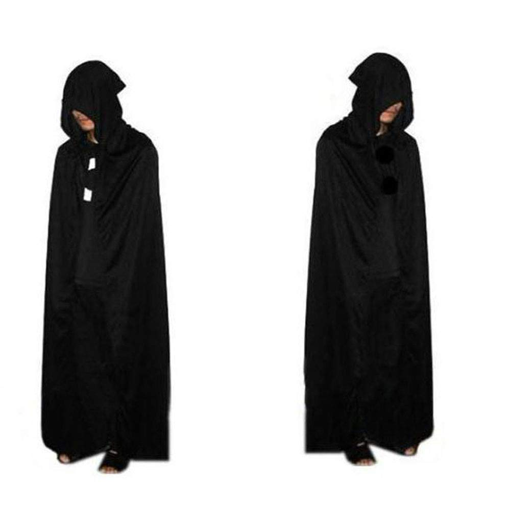 Unisex Hooded Cloak Role Cape Play Family Costumes Full Length for Halloween Party Hilai