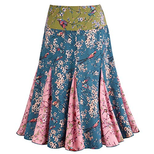 (CATALOG CLASSICS Women's Dawn Songbird Pleated Pull On Skirt - 25