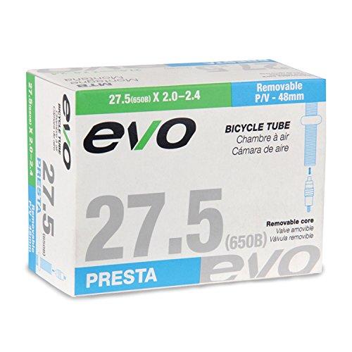 EVO Bicycle Tube - 27.5 x 2.0-2.4 - 48mm Presta Valve w/Removable Valve Core (27.5 x 2.0-2.4 - 48mm Presta Valve)