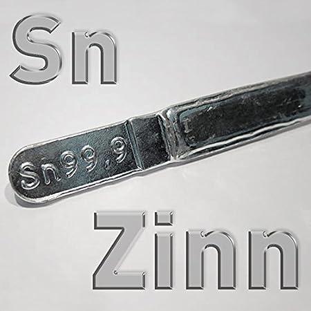Lingote de Estaño Sn 99,9%, 400 g, estaño puro trozos en barra ...