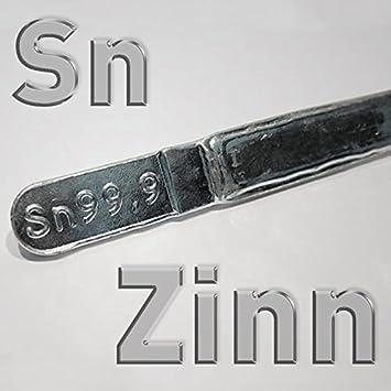 Lingote de Estaño Sn 99,9%, 400 g, estaño puro trozos en barra, soldadura Estaño sin plomo 0,4 kg: Amazon.es: Hogar