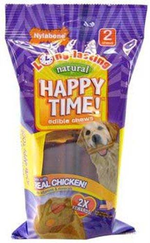Nylabone Happy Time Dog Chews, Medium Size, 2-Pack, My Pet Supplies
