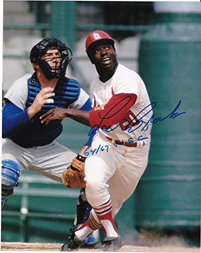 Lou Brock Autographed Photo - 1964 1967 WS CHAMPS 8x10 - Autographed MLB Photos