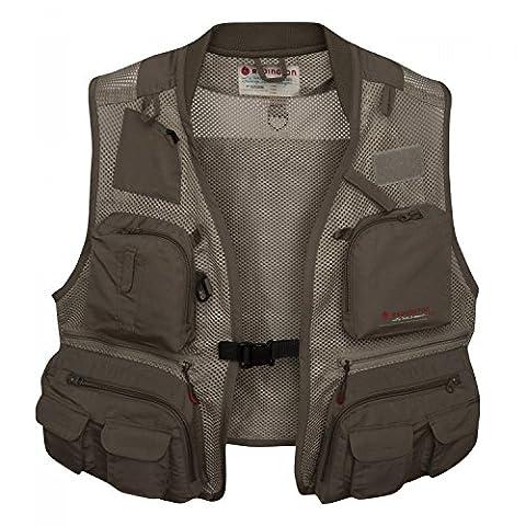 Redington First Run Fishing Vest, Grit, Large/X-Large (Fly Fishing Redington)