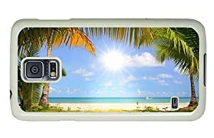 Hipster for cheap Samsung Galaxy S5 Case beach hd PC White for Samsung S5