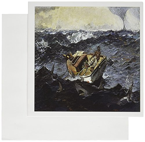 3dRose Print of The Gulf Stream, Winslow Homer Greeting Cards, 6
