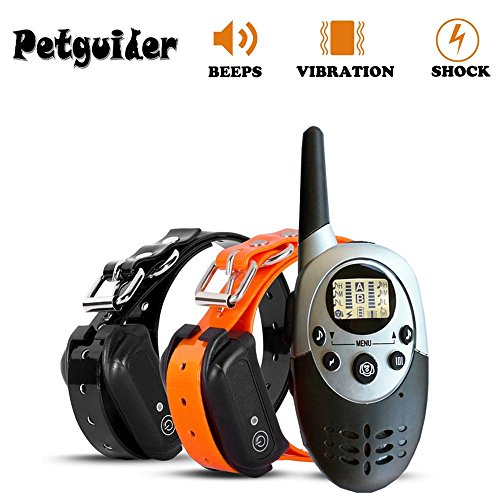 - 3CTECH 1000M Pet Dog Training Collar Pet Training Collar Dog Trainer Waterproof Rechargeable with Beep Vibration and Remote Electric Shock