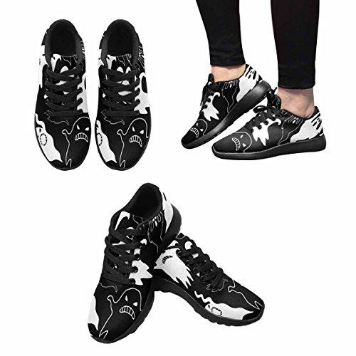 Interessante Womens Jogging Running Sneaker Leggero Go Easy Walking Comfort Sportivo Scarpe Da Ginnastica Spaventoso Fantasmi Multi 1