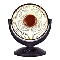 Lucky-gift - Electric Parabolic Oscillating Space Heater - Electric Parabolic Oscillating Space Heater - Radiant Timer Home Office Infrared W New Portable Durable Indoor Outdoor Immediate