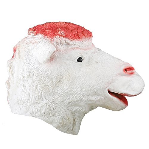 YUFENG Realistic Sheep Mask Animal Rubber Masks Full Head Holloween Mask -
