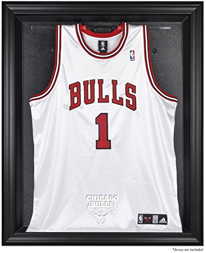 Browns Logo Display Case - Chicago Bulls Brown Framed Logo Jersey Display Case