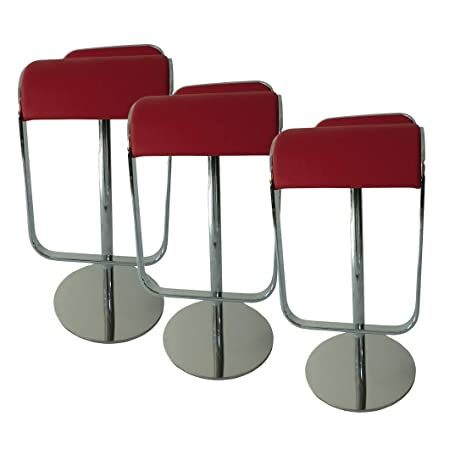 Pleasing Mlf Lem Style Piston Bar Stool Adjustable 27 2 33 1 Smooth Hydraulic Piston 360 Degrees Swivel Spin Smooth Red Italian Leather Seat Sturdy Pdpeps Interior Chair Design Pdpepsorg