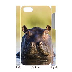 3D Bumper Plastic Case Of Hippo customized case For Iphone 4/4s