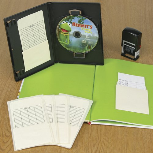 Self Adhesive Book Pockets - Book Processing - Date Grid - 5-1/4'' H x 3-1/2'' W x 2-1/2'' D - 100pk