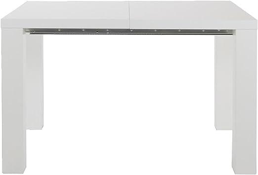 MO Living Mesa de Comedor Extensible Blanco Brillante 120/240 x 80 ...