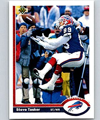 Amazon.com  1991 Upper Deck  199 Steve Tasker Bills NFL Football ... b126f8b63