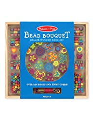 Melissa & Doug Bead Bouquet Deluxe Wooden Bead Set With 220+ ...