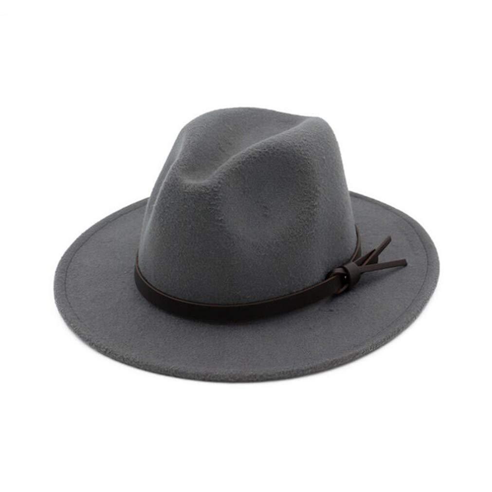 Men Hats Vintage Fedora Trilby Women Wool Felt Wide Brim Winter Jazz Cap