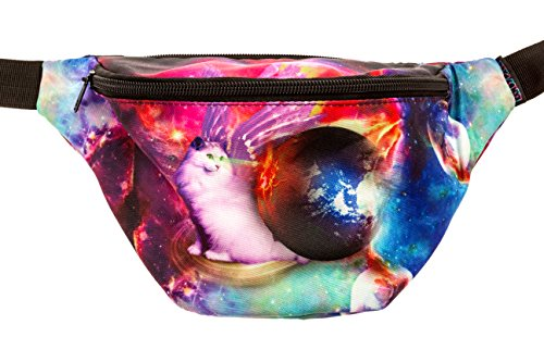KANDYPACK Galaxy Laser Cat Fanny Pack Perfect for Raves and Festivals