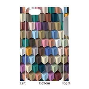 DIY Phone Case with Hard Shell Protection for Iphone 4,4S 3D case with Geometry lxa#228251
