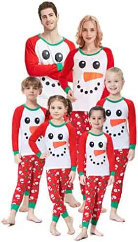 Matching Family Christmas Pajamas Boys Girls Snowman Jammies Children PJs  Gift Set 79dbeee23
