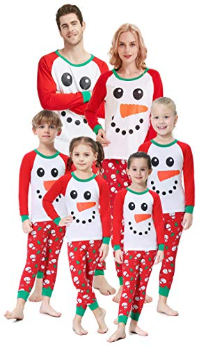 Matching Family Christmas Pajamas Boys Girls Snowman Jammies Children Gift Set Size 8 ()