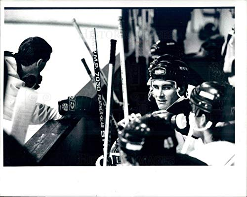 Historic Images - Undated Vintage Press Photo NHL Boston Bruins HOF Ray Bourque & Brian Sutter - snb7703