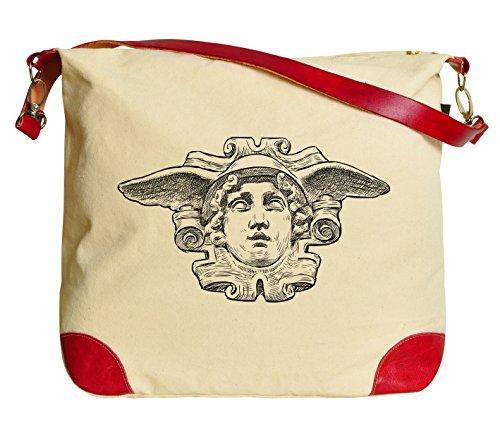vietsbay Conjunto de romano Estatua Casual Bolso de Hombro Lona Impresa Bolso se _ _ _ _ _ _ _ _ _ _ 33,  Head of Hermes