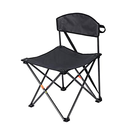 Fine Amazon Com Lifex Black Outdoor Backrest Folding Stool Squirreltailoven Fun Painted Chair Ideas Images Squirreltailovenorg