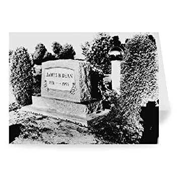 Amazon com: JAMES DEAN'S GRAVE, FAIRMOUNT, INDIANA  - Greeting Card