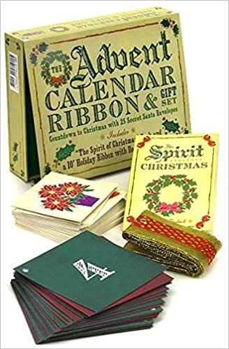 The Advent Calendar Ribbon Gift Set Countdown To Christmas With 25 Secret Santa Envelopes Cider Mill Press Lana Mullen 9781933662794 Amazon Com