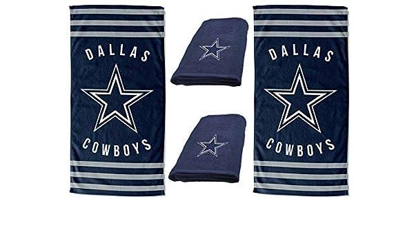 Dallas Cowboys Football Bath Towel Set Personalized Sports Team Towel Sets