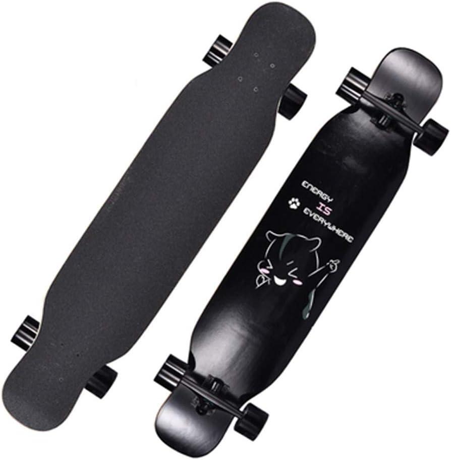 Sljj クルーザー初心者大人スケートボード、8層メープルと119 * 24センチメートルダブルキック凹デッキスケートボード (Color : B) B