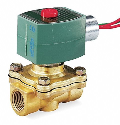 24VDC Brass Solenoid Valve, Normally Closed, 1/2'' Pipe Size by REDHAT (Image #1)
