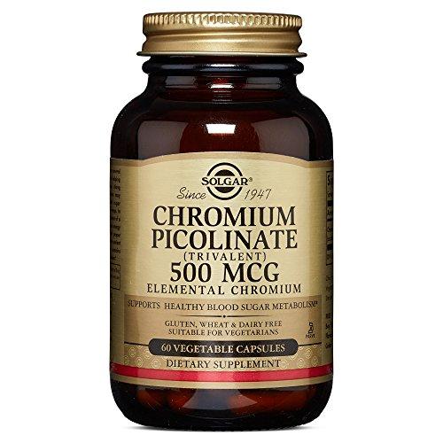 Solgar - Chromium Picolinate 500 mcg Vegetable Capsules 60 Count